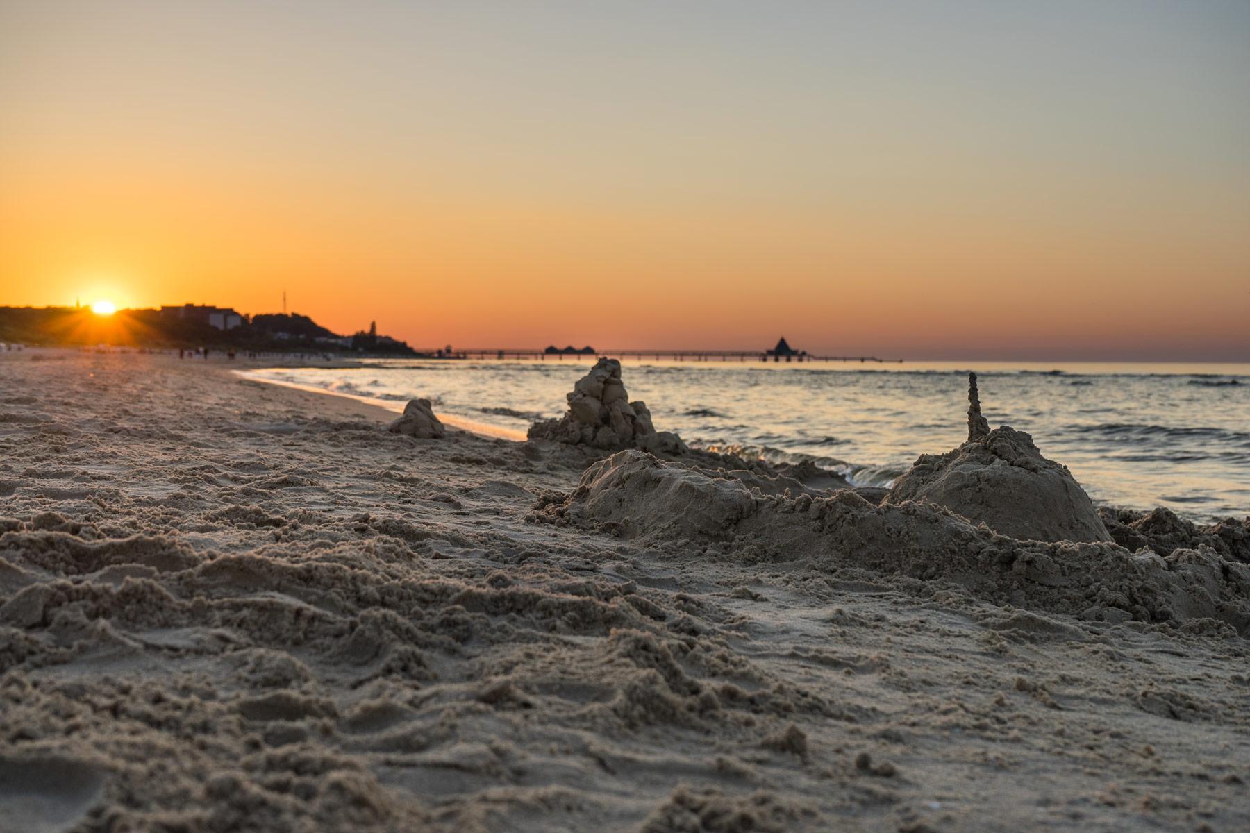 Sonnenuntergang am Strand von Ahlbeck