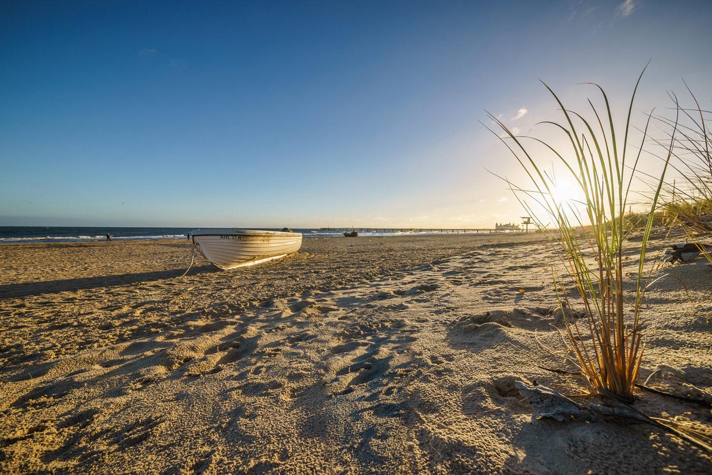 Morgens am Strand von Ahlbeck